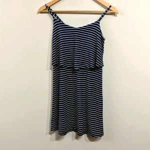 American Eagle Blue Stripe Sundress